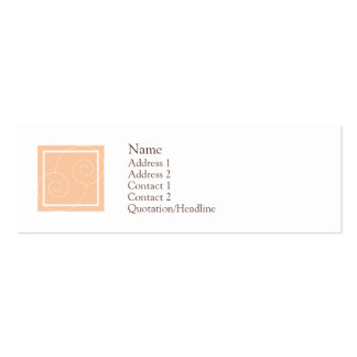 Elise - Peach Double-Sided Mini Business Cards (Pack Of 20)