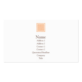 Elise - Peach Double-Sided Standard Business Cards (Pack Of 100)