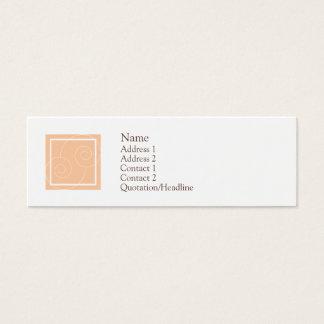 Elise - Peach Mini Business Card