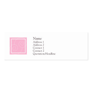 Elise - Pink Double-Sided Mini Business Cards (Pack Of 20)