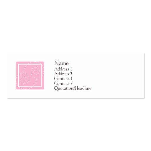 Elise - Pink Business Cards