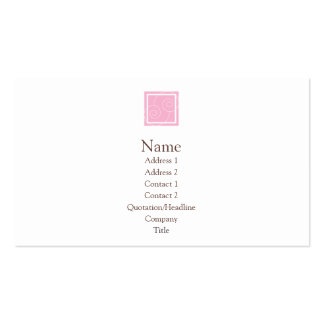 Elise - Pink Double-Sided Standard Business Cards (Pack Of 100)