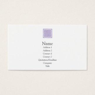 Elise - Purple Business Card