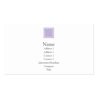 Elise - Purple Double-Sided Standard Business Cards (Pack Of 100)