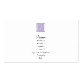 Elise - púrpura tarjetas de visita