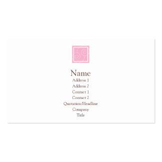 Elise - rosa tarjetas de visita