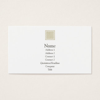 Elise - Tan Business Card