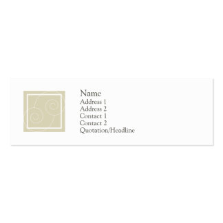 Elise - Tan Double-Sided Mini Business Cards (Pack Of 20)