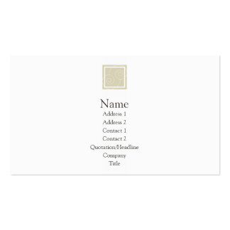 Elise - Tan Double-Sided Standard Business Cards (Pack Of 100)