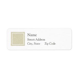 Elise - Tan Return Address Label