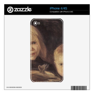 Elise und S°ren by Anna Ancher Skin For The iPhone 4