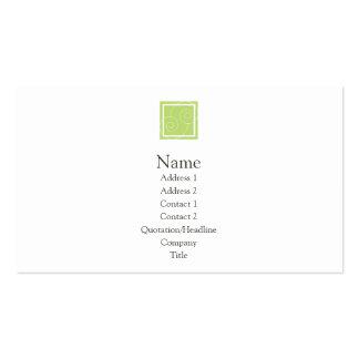 Elise - verde tarjetas de visita