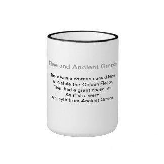 Elise y Grecia antigua Taza De Dos Colores