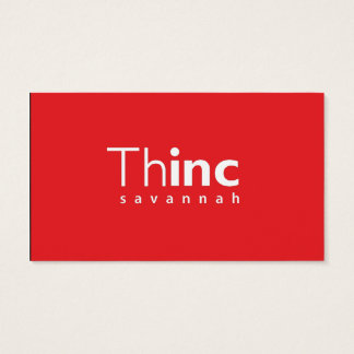 Elise's Business Card Thinc Savannah