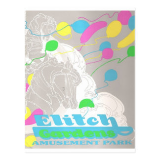 Elitch Gardens Amusement Park Postcard
