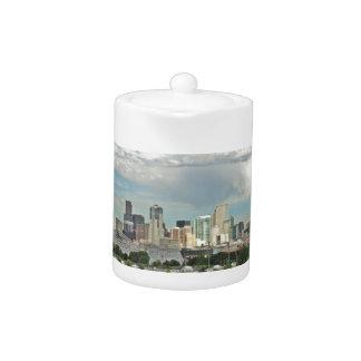 Elitch Gardens and the Downtown Denver Colorado Sk Teapot