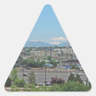 Elitch Gardens Denver Triangle Sticker
