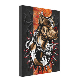 Elite American Staffordshire Terrier Canvas Print