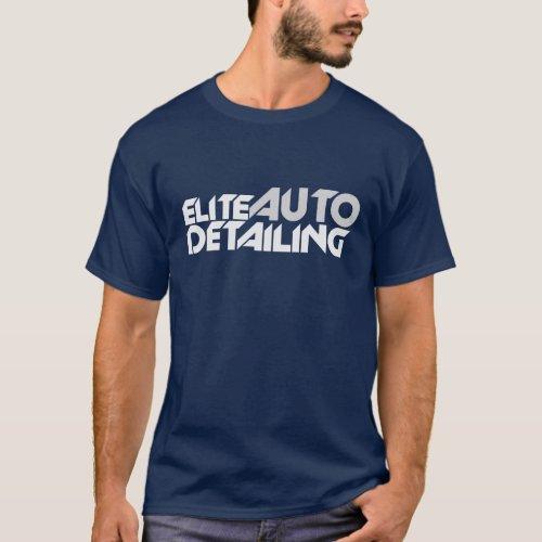 elite auto detailing dark tshirt