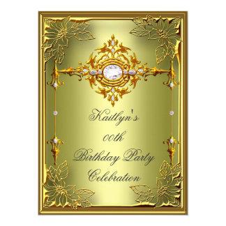Elite Avocado Green Gold Birthday Party 2 Card