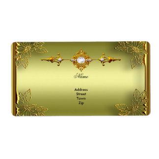 Elite Avocado Green Gold Engagement Anniversary Label