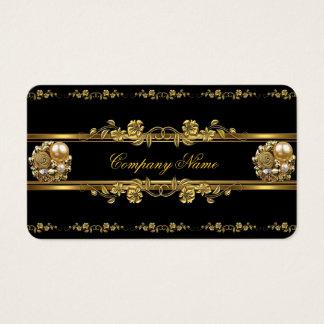 Elite Business Gold Elegant Floral Jewel Business Card
