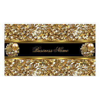 Elite Business Gold Elegant Glitter Jewel 2 Business Card