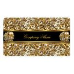 Elite Business Gold Elegant Glitter Jewel Business Card