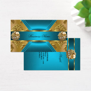 Elite business cards templates zazzle elite business teal blue gold damask jewel business card solutioingenieria Images