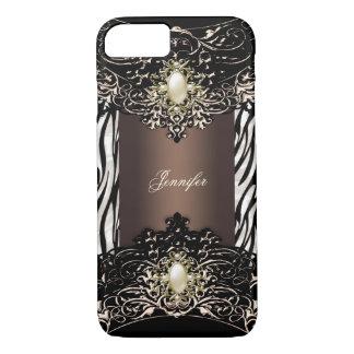 Elite Chocolate Zebra Black Pearl Brown 2 iPhone 8/7 Case