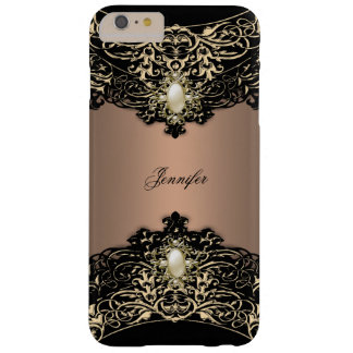 Elite Coffee Black Pearl Brown Sepia Gold Barely There iPhone 6 Plus Case
