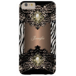 Elite Coffee Zebra Black Pearl Brown 3 Barely There iPhone 6 Plus Case