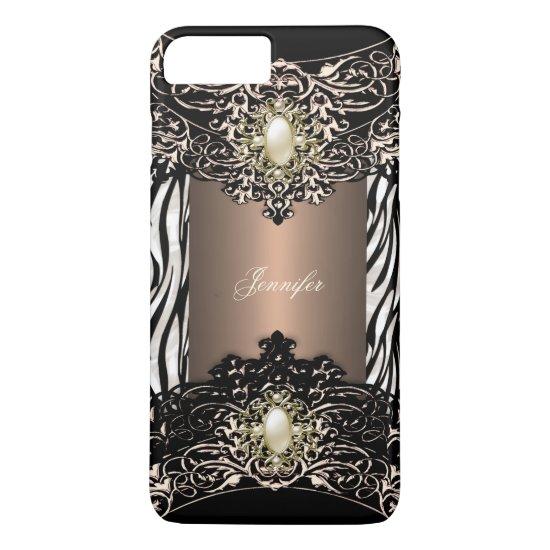 Elite Coffee Zebra Black Pearl Brown 3 iPhone 7 Plus Case