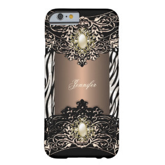 Elite Coffee Zebra Black Pearl Brown 4 Barely There iPhone 6 Case