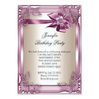 Elite Elegant Birthday Party Pink Cream Card
