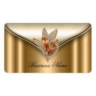 Elite Elegant Bronze Brown Gold Jewel Business Card
