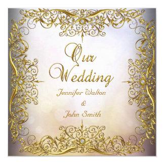 Elite Elegant Wedding Set Beige Gold Card