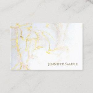Elite Gold Marble Plain Elegant Golden Modern Chic Business Card