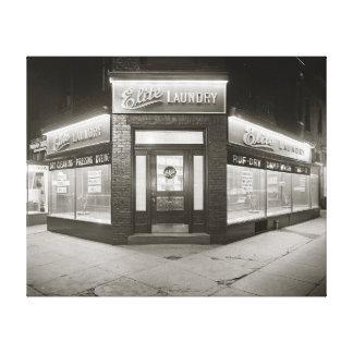 Elite Laundry, 1928 Gallery Wrap Canvas