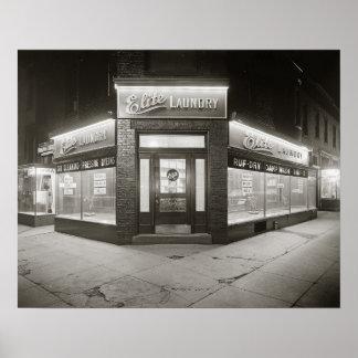 Élite Laundry, 1928. Foto del vintage Póster