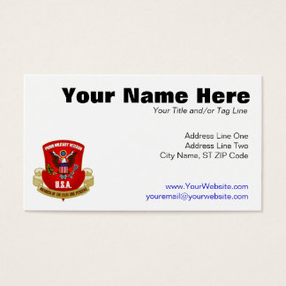 Elite One Percent (Red) Business Card