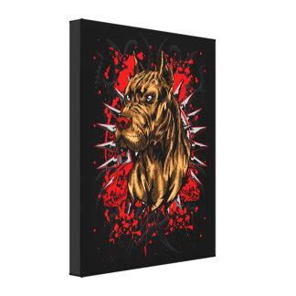 Elite PitBull Dog Warrior Canvas Print