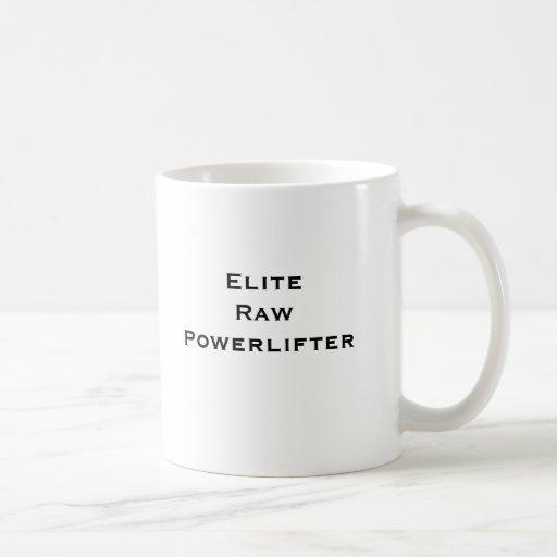 Élite Powerlifter crudo Tazas