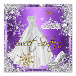 Élite púrpura del oro blanco del dulce dieciséis d anuncios