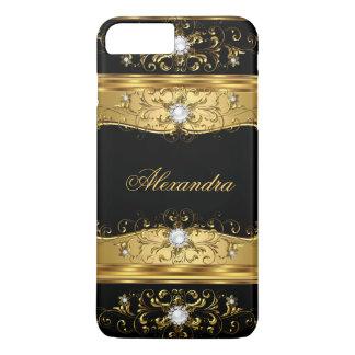 Elite Regal faux Gold Black Pearl Diamond Jewel iPhone 8 Plus/7 Plus Case