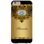 Elite Regal Gold Black Ornate Diamond Jewel Barely There iPhone 6 Plus Case