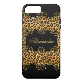 Elite Regal Leopard Gold Black animal print 2 iPhone 8 Plus/7 Plus Case