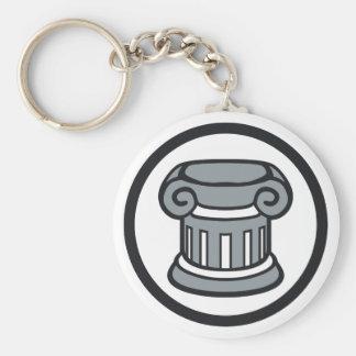Elitism Basic Round Button Keychain