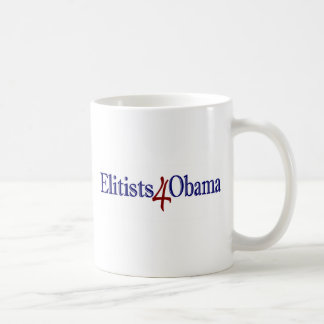Elitists 4 Obama Coffee Mug