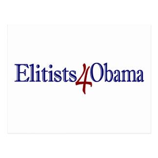 Elitists 4 Obama Postcard